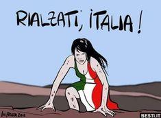 RIALZATI, ITALIA   BESTI.it - immagini divertenti, foto, barzellette, video World Of Tomorrow, Home T Shirts, Deadpool, Disney Characters, Fictional Characters, Humor, Anime, Video, Italy Food