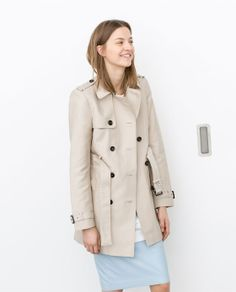 Image 3 of DOUBLE BREASTED RAINCOAT from Zara