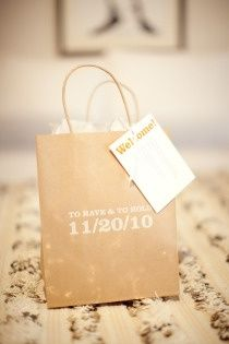 $5k Wedding Wednesday: How to Make Hotel Bags for Out of Town Guests On A Budget - An Exercise In Frugality