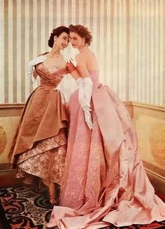Leigh and sister Suzy Parker for a Modess ad, 1953