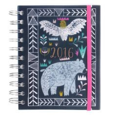 Nordic Nights A6 day to view 2016 diary - Planners - Planners & Organizers - Stationery