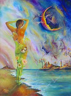 """Pintura de Alejandro Costas en el poema """"Brotó la vida""""  http://vivirparacontarlaconpoesia.blogspot.com/2014/05/Poesia-broto-la-vida.html?spref=tw"""