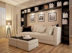Use these gorgeous modern living room ideas, even if you have a small living room, as a starting point for your next decorating project. Condo Living, My Living Room, Living Room Interior, Small Living, Home And Living, Living Room Decor, Kitchen Interior, Modern Living, Dining Room