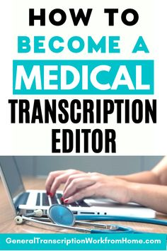 Want to get a medical transcription career? Find out how to become a medical transcriptionist, how to get started in medical transcription editing and become a medical transcription editor. Medical transcriptionists or MTs are now working as medical transcription editors or MT editors and are editing the transcripts generated by speech recognition software. Work from home and get online remote transcription jobs. Typing Jobs From Home, Online Typing Jobs, Online Side Jobs, Best Online Jobs, Work From Home Jobs, Transcription Training, Transcription Jobs From Home, Transcription Jobs For Beginners, Medical Transcriptionist