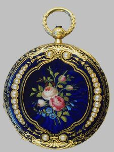 A exquisite Victorian enamel watch.