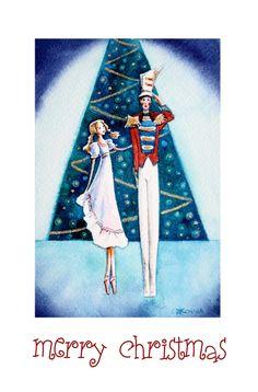 Nutcracker Ballet handmade Christmas card