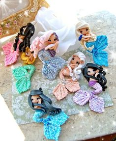 As you guys know I'm obsessed with mermaids so here's some really adorable mermaid clay figures☄ The Effective Pictures We Offer You About Polymer Clay Crafts halloween A quality picture can tell you Polymer Clay Kunst, Polymer Clay Figures, Cute Polymer Clay, Cute Clay, Polymer Clay Dolls, Polymer Clay Projects, Polymer Clay Charms, Polymer Clay Creations, Clay Crafts