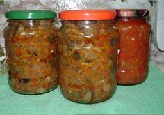 Салат на зиму из моркови, перца и помидоров