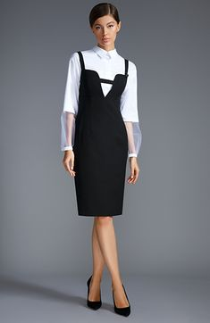 Forever in Style - Beauty and Fashion through the centuries Business Outfits Women, Business Dresses, Western Formal Dresses, Shorts Longs, Corporate Attire, Suspender Dress, Layered Fashion, African Print Fashion, Fashion Sewing