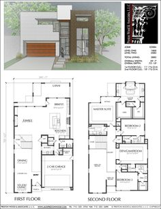 Unique Two Story House Plans, Floor Plans for Luxury Two Story Homes, – Preston Wood & Associates Two Story House Design, Two Story House Plans, House Layout Plans, Two Story Homes, Best House Plans, Modern House Plans, House Layouts, Small House Plans, Modern House Design