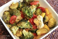 Balsamic Roasted Vegetables~ Lauren Kelly Nutrition