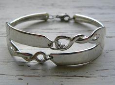 Fork tine bracelet twisted fork tines by WhisperingMetalworks, $45.25