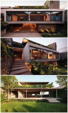 Architect Jose Juan Rivera Rio\'s Modernist Casa Caucaso architecture-desi... #architecture #architect #architecturaldesign
