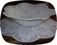 Instant Download Free Standing Lace Victorian Lace Bowl Embroidery Design