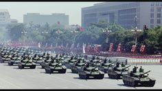 Type 99 tanks of the PLA Ground Force rolling through Tiananmen Square in the 2009 Chinese National Day Parade.