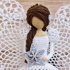Christmas 2015, Crochet Patterns Amigurumi, Learn To Crochet, Crochet Necklace, Bikini, Knitting, Xmas, Craft, Crochet Angels
