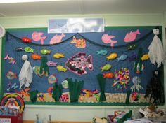 classroom under the sea images Class Displays, School Displays, Classroom Displays, Under The Sea Images, Eyfs Classroom, Classroom Ideas, Disney Classroom, Classroom Door, Art For Kids
