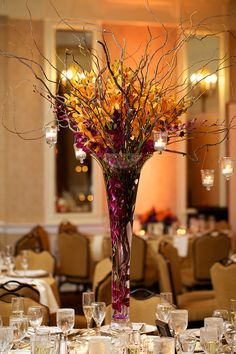 another centerpiece...love the flowers and the vase