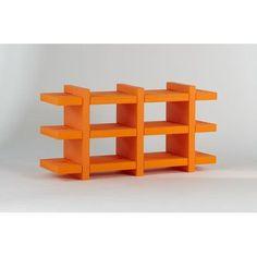 "Slide Design Booky 12 Shelf Unit 27.6"" Bookshelf Finish: Lime Green Lacquer"