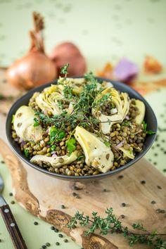 Artichoke and Lentil Salad + An Extraordinary Vegan Review & GIVEAWAY!   Keepin' It Kind