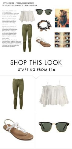 """10-09-2016"" by katemalikpayne ❤ liked on Polyvore featuring Current/Elliott, Sans Souci, Ray-Ban and Forever 21"