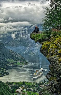 Flydalsjuvet, Geiranger, Norway... maybe not sitting on the edge unless there is an elevator
