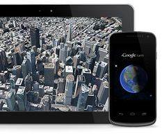 Download google earth for the Android and iOS.