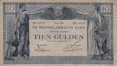 """Nederland 10 Gulden 1917 """"Arbeid en Welvaart"""