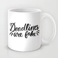 """Deadlines"" Mug by Josh LaFayette on Society6."