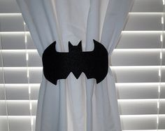 Super Hero Curtain Tie-backs Set of 2 by lilibugcreations on Etsy