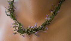 Very sophisticated nekcklace of Turkish needle lace (igne oyasi)