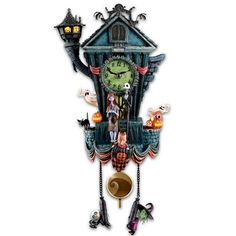 Cuckoo Clock: Tim Burton's The Nightmare Before Christmas Wall Tabletop Christmas Tree, Christmas Lanterns, Nightmare Before Christmas Musical, Jack The Pumpkin King, Mad Hatter Tea, Mad Hatters, Oogie Boogie, Fire Dragon, Halloween Town