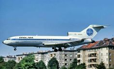 BERLIN or THF in May 1975 : PAN AM 727 N360PA aka JET CLIPPER BERLINER WEISSE on approach for landing.Original pin by Steve .... Saved by the Grace of God,as written in Ephesians 2 verses 8 & 9 of the Bible.
