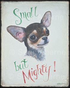 Black and Tan Chihuahua Dog Handpainted Wooden Sign | Animal Art Print | Wall Plaque