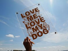framed love me love my dog paper cut by Nuchiwacca on Etsy, ¥4200