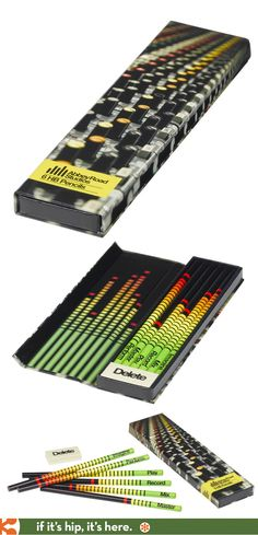 Fun pencil packaging for Abbey Road Studios Pencils by Wild & Wolf. PD