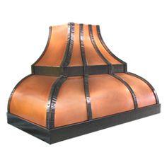 custom copper range hood Texas Lightsmith Model #24, J