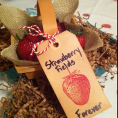 Invitation to March 2012 Bunco... Strawberry Fields Forever And YES...everyone received fresh strawberries in their basket!! Lots of fun to do and put together...by: Barb Norcross