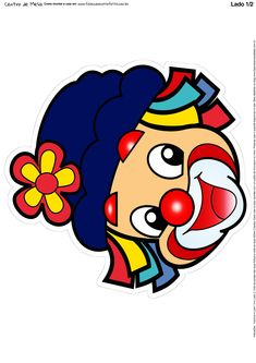 Toten Patati e Patata 5-1 Clown Party, Circus Carnival Party, Circus Theme, Clown Crafts, Circus Crafts, Painting Patterns, Fabric Painting, Carnival Classroom, Pierrot Clown
