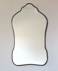 Oval Mirror Handmade Wall Mirror Wall Mirror Miroir Oblong Sculpted Organic Curved Curvy Scalloped  > > > This item is made to order. Please allow up
