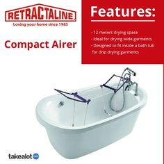 For one day only the @retractaline #compact #airer is on #special from @TAKEALOT perfect for saving space with a neat #fold away and 12m drying space. Click below for more. Plastic Components, Clotheslines, Clothes Dryer, Love Your Home, Drip Dry, Ranges, South Africa, Compact