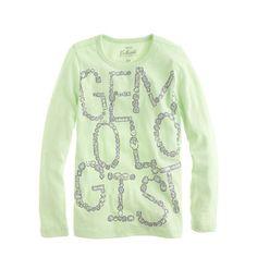 J.Crew - Girls' long-sleeve gemologist tee 36/29
