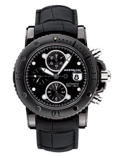 3e8f9add20d Black is beautyful  Sport DLC Chronograph Automatic by Montblanc The Sport  DLC Chronograph Automatic by watchmaker Montblanc not only has a black dial  and ...