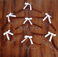 Bridal Hangers / Wedding Party / Bride / Bridesmaid Gifts