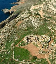 An aerial view of the megalithic temple of Mnajdra in Malta. (From: Photos: World's Hidden Man-made Wonders)