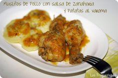 Muslitos de pollo con salsa de zanahoria