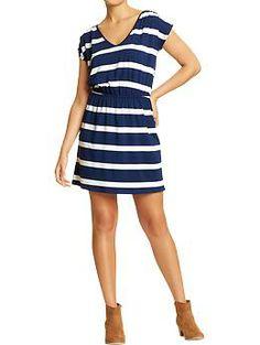 Beach Dress. Women's V-Neck Jersey Dresses   Old Navy