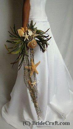 DIY Briadal flower bouquets : DIY wedding flowers  DIY Beach Bouquet Cascade