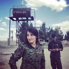 Comander Canda from YPJ, the Women Defense Units leading the #waragainstpatriarchy and the revolution in Rojava.