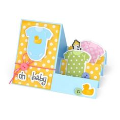 Oh, Baby Step-Ups Card Send along your very best wishes for baby! Layered shapes created with Triplits dies make this project simple to create and oh-so special to receive.